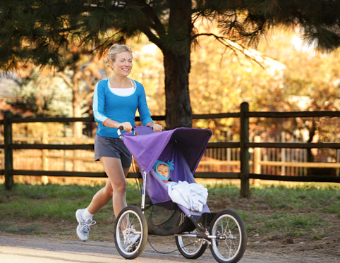 Mom Jogging with baby