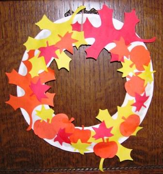 The mom crowd easy diy craft for your toddler fall wreath for November arts and crafts for daycare